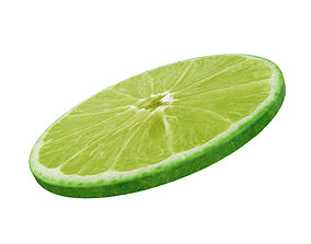 3D model Lime round slice