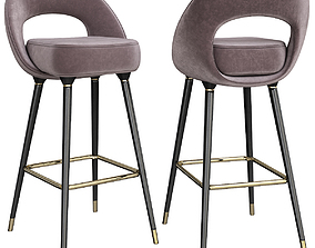 Collins Bar Chair 3d model realtime