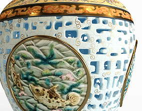 Qing dynasty vase 3D