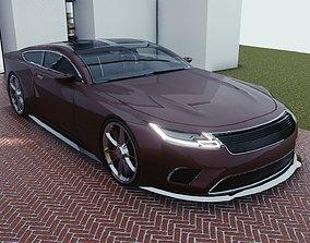3D model BLENDER EEVEE Brandless Sports GT coupe