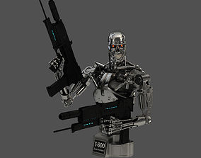 3D sci Terminator T-800 Endoskeleton Bust