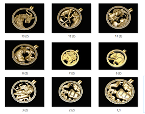 14 zodiac sign pendant 3dm bulk collection