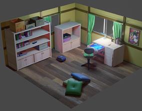 3D asset Nobita room