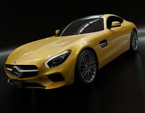 fast Mercedes AMG GT S 2016 3Dmodel