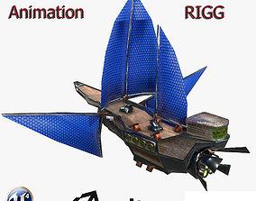3D model animated Fantasy Ships