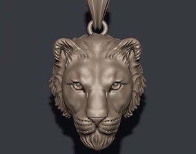 3D printable model Lioness pendant