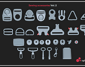 3D asset realtime Sewing accessories Vol 02