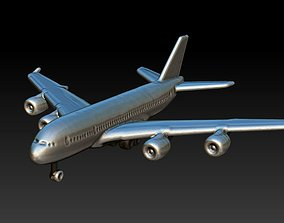 plane low poly 3D printable model