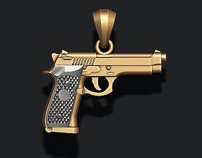 3D print model Gun pendant jewel