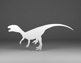 Dinosaur silhouette 3D printable model