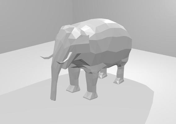 lowpoly elephant