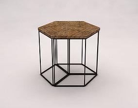 SIDE TABLE---Parallelogram built-in 3D