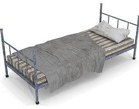 3D model Old Dirty Single Bed 1
