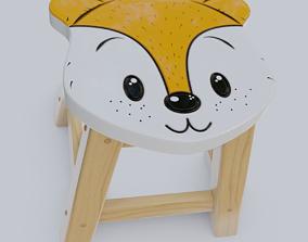 parent Child Step Stool Fox 3D