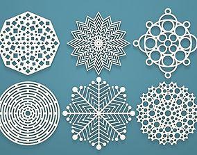 Geometric Snowflakes 3D printable model