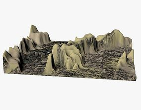 Mountain Landscape 3D model low-poly