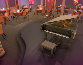 Jazz club - interior and props 3D model