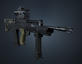 SA80 a2 Rifle 3D asset low-poly