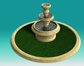 3D model Fountain marble