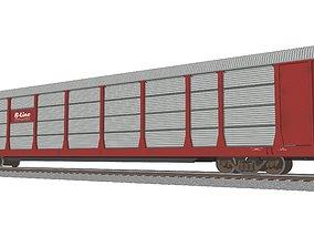 Train Car - Car Carrier - Autorack 3D