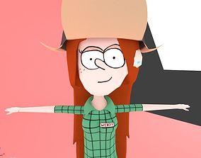 3D model Gravity Falls Wendy Corduroy