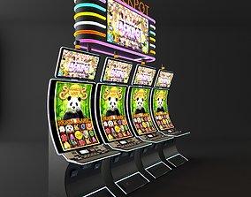3D model curve casino slot machine