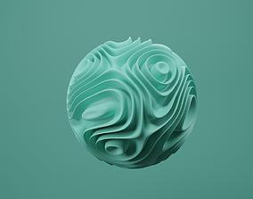 animated fluid ball 3D model