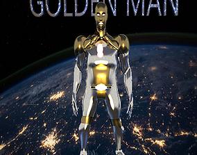 golden iron man 3D asset