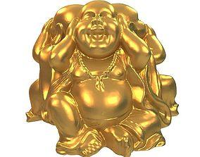 3D print model budha Buddhist monk