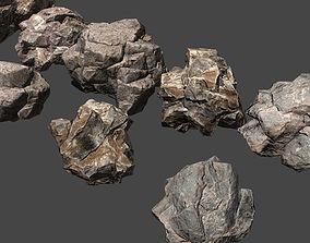 rock package stones 3D model
