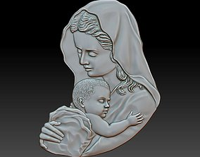 3D print model Mother with child