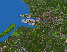 Dublin City Ireland 2021 3D model