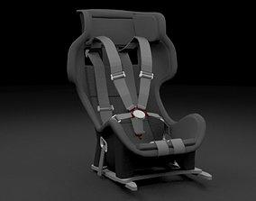 Racing Seat - v2 3D asset
