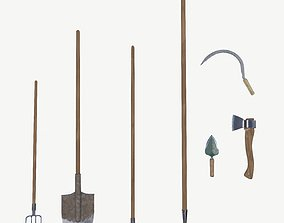 Gardening hand tools collection 3D
