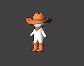 3D asset Tiny Cowboy FREE