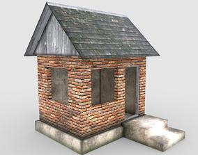 3D model wood Old house