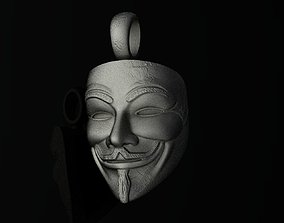 Anonymous Guy Fawkes Mask Pendant 3D print model