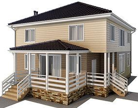 Frame house 3D model