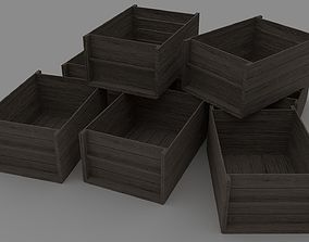 game-ready Wooden Crate Low-poly 3D model