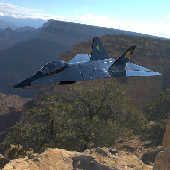 F-24A Over a Canyon