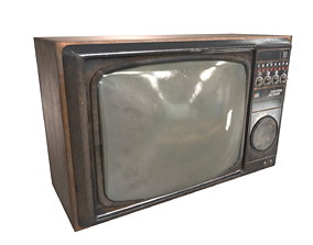 pbr tv crt 3D asset