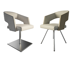 3D model Jolly Leather Beige armchairs