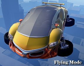 VX455 Flying Car 3D