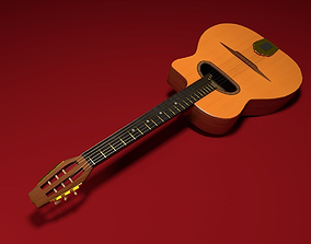 Maccaferri Gypsy Style Guitar 3D model low-poly