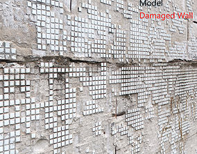 Ultra realistic Damaged Wall Scan destroyed 3D model