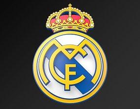 low-poly Real Madrid Football Club FC 3D LOGO