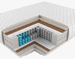 3D model textile Spring mattress