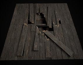 Old Wooden Floor set 3D asset