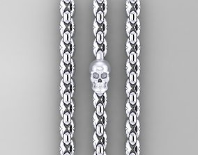 3D printable model Chain with skull