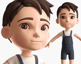 Cartoon Boy NoRig model 3D